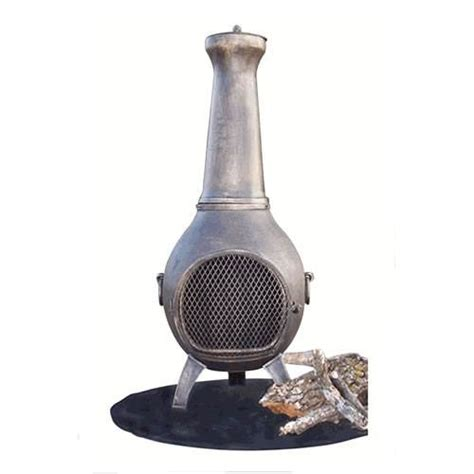 Discount Chiminea real corsica propane column limestone finish discount 812lp ls