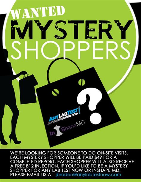 flyer design lab quot mystery shopper quot flyer design for any lab test now and
