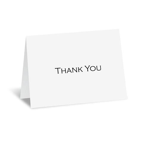 Thank You Letter Envelope White Thermography Thank You Card And Envelope S