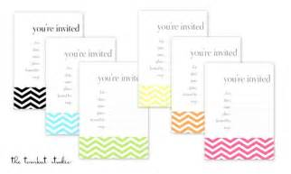 hgtv free printable chevron invitations favor tags in 6 colors the tomkat studio