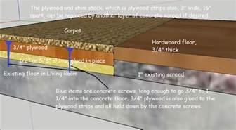 flooring raise concrete floor with carpet to same height