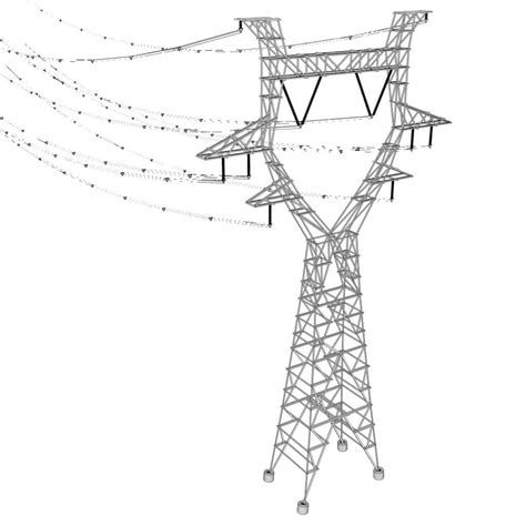 getting ready for d day power line 3d model modular powerlines vr ar low poly fbx ma mb