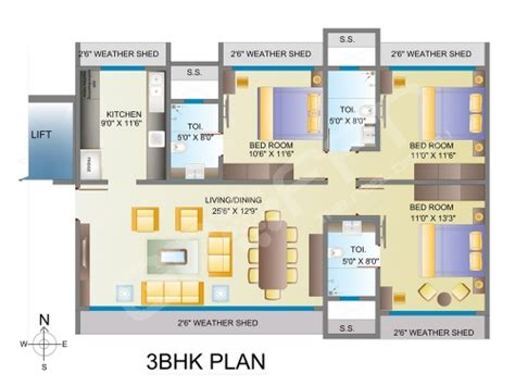 3bhk plan mayfair kumkum mumbai mayfair group best rates on
