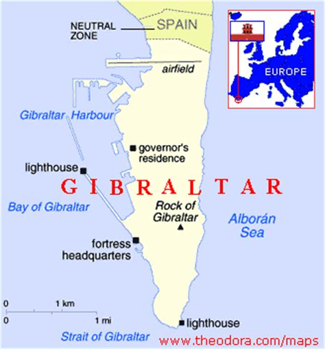 gibraltar on the world map gibraltar maps economy geography climate