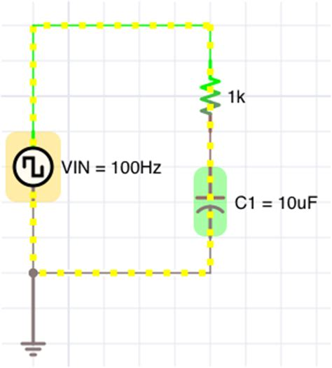 how do you measure voltage across a capacitor user manual icircuit the realtime circuit simulator and editor