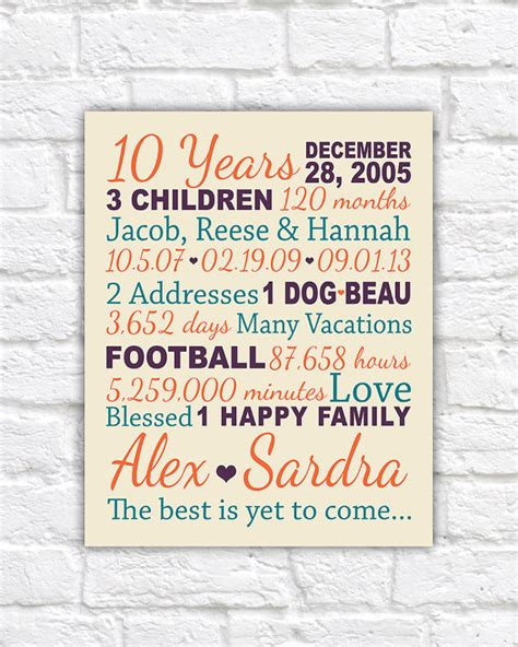 Wedding Anniversary Song By Name by Anniversary Gift For 10 Years 20 Years Gifts For Him