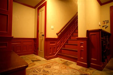 Stained Wainscoting by Hudson Cabinetmaking Inc