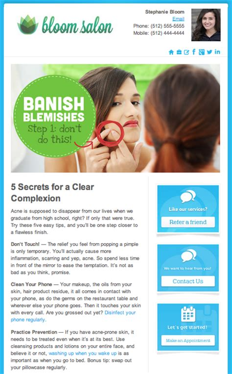 how to make a newsletter how to make the salon email newsletter 5 steps