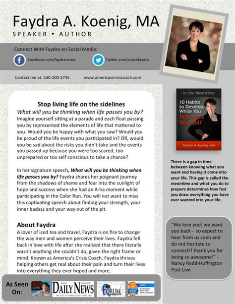 speaker one sheet template august 2014 felicia slattery speaking coach