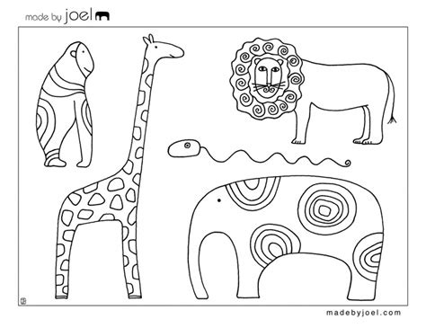 free printable zoo animal cutouts coloring sheets colouring pages for adult therapy