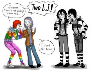 Oc by laughing jack x reader laughing jack x jeff the killer yaoi by
