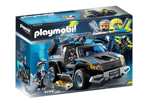 Playmobil Agenten Auto by Playmobil Set 9254 Dr Drone Pick Up Klickypedia