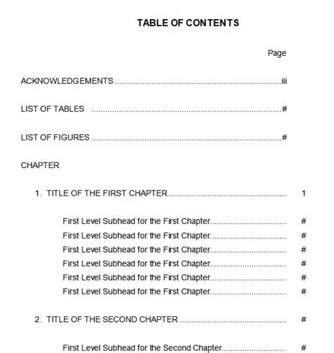 18 table of contents templates with guide on how to create table of contents 10 best table of contents templates for microsoft word