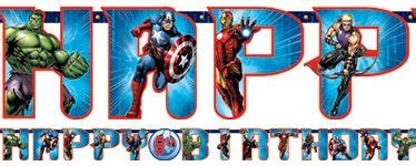 Bunting Flag Happy Birthday Avenger By Queenballoon buy happy birthday banner age of ultron