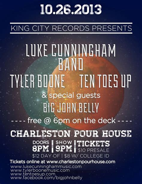 The Pour House Charleston by King City Records Showcase At The Pour House Holy City
