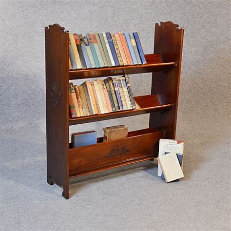 antique bookcase book magazine rack library shelves