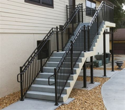 Exterior Stair Handrails To Replace A Metal Exterior Stair Railings