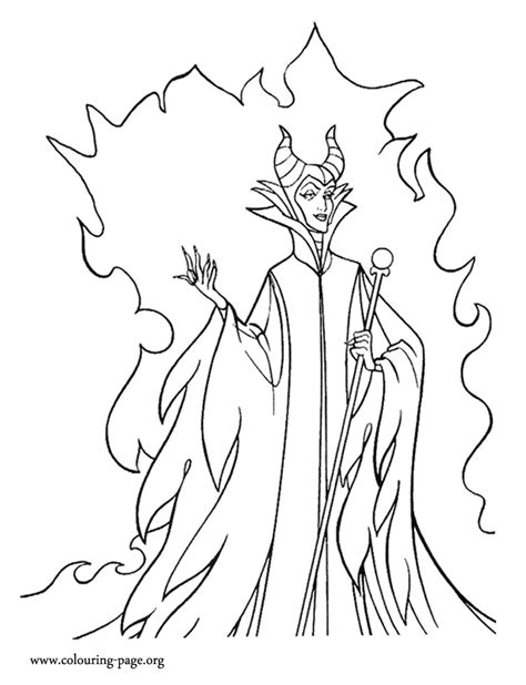 Maleficent Powerful Maleficent Coloring Page Maleficent Coloring Pages