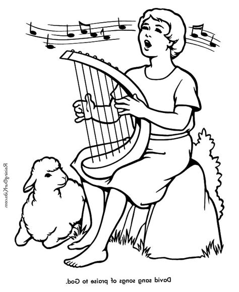 coloring page david the shepherd boy david the shepherd boy david the shepherd boy sing a