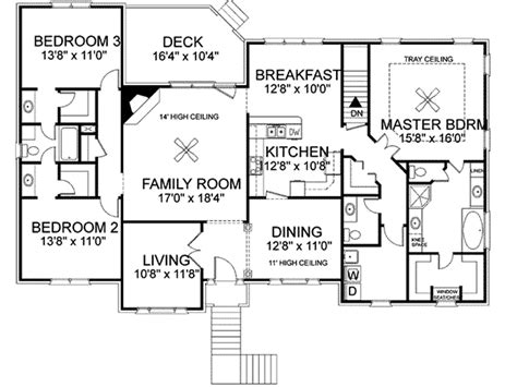 freeman split level home plan 013d 0092 house plans and more