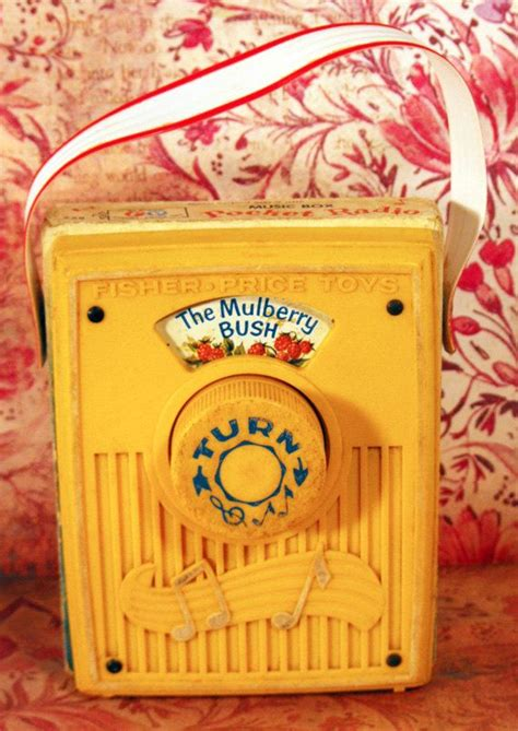 Small Tv Box Yellow by Vintage 1970 Yellow Fisher Price Baby Pocket Radio