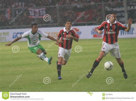 Ac Jakarta italy and ac milan legend costacurta and carbone editorial stock image image 35479814