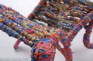 Cool Things To Make With Rubber Bands And Paper - chair made from 65 000 rubber bands will put a in
