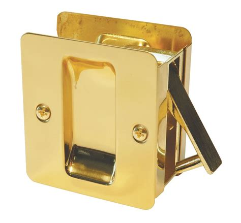 weiser 1030 square passage pocket door lock in polished