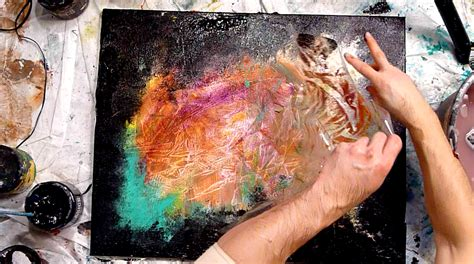 acrylic paint effects abstract modern painting techniques by dranitsin