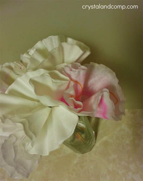How To Make Paper Flowers From Coffee Filters - appreciation gift ideas handmade flowers