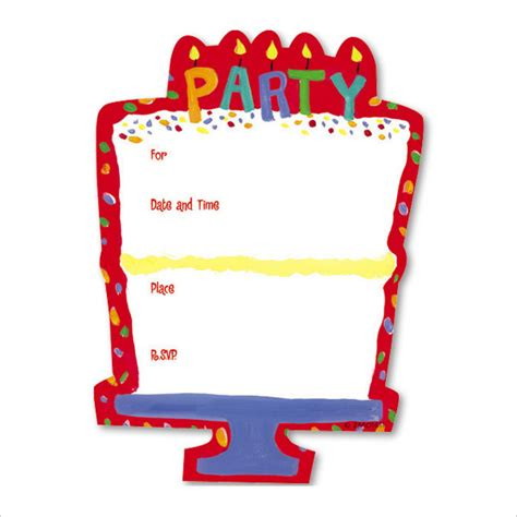 Blank Birthday Invitation Card Template by 53 Birthday Invitation Templates Psd Ai Free