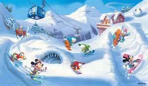 Minnie Mouse Wall Murals disney mickeys winter life mural