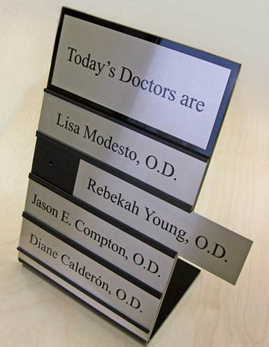 custom office desk signs desktop doctors nameplates in signs out signs