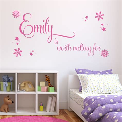childrens personalised wall stickers personalised children s worth melting for wall sticker decals
