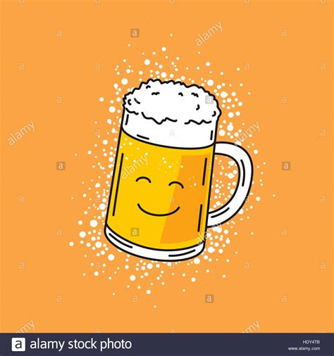 cartoon beer no background cartoon illustration of cute smiling beer mug on orange