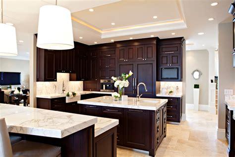 espresso cabinets transitional kitchen elizabeth