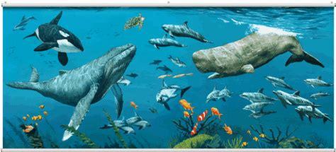 deep sea whales wall mural minute murals  mural store