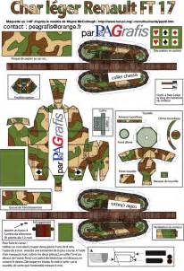papercraft the french renault ft ft 17 tankpedia