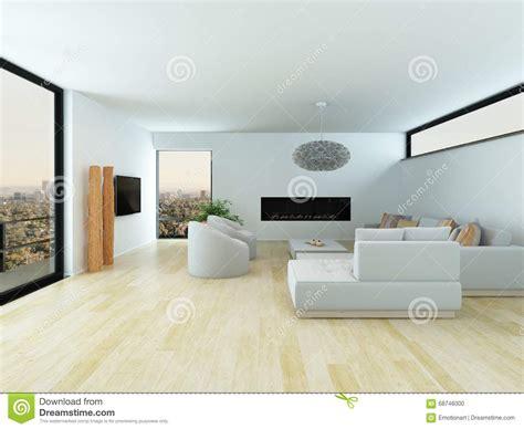 Charmant Mobilier De Salle A Manger Moderne #3: salon-moderne-avec-le-plancher-de-parquet-lger-68746000.jpg