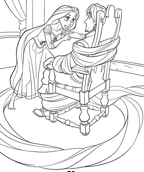 Tangled Princess Coloring Pages Walt Disney Coloring Pages Princess Rapunzel Flynn by Tangled Princess Coloring Pages