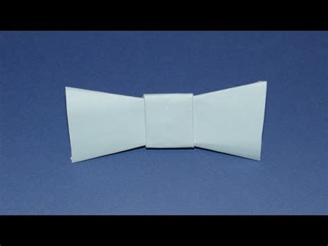 Easy Origami Bow Tie - how to make an origami bow tie