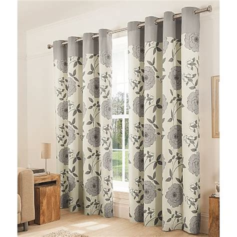 grey curtains 90 x 90 george home grey floral eyelet curtains 90 x 90 inch