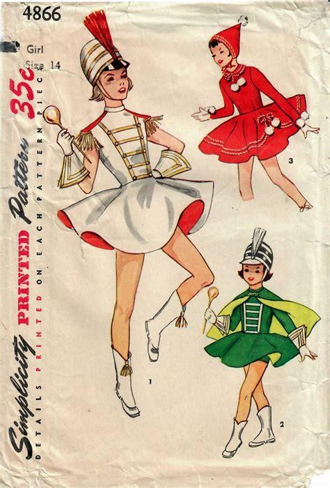 vintage majorette pattern 1950s simplicity 4866 vintage sewing pattern girls