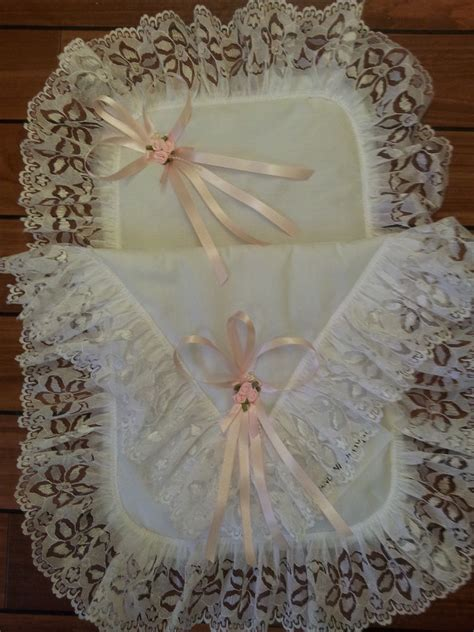 Romany Set romany frilly white and pink made size dolls