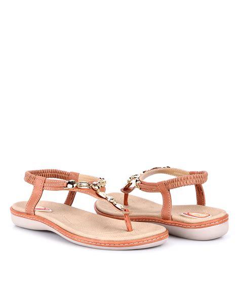 Sandal Kulit Sintetis L 01 carvil casual sandal 03l cokelat