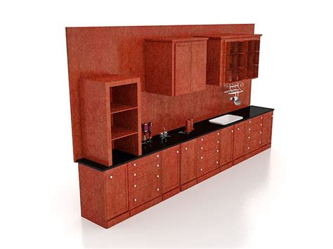 antique red kitchen cabinets antique red kitchen cabinets 3d model 3ds max files free