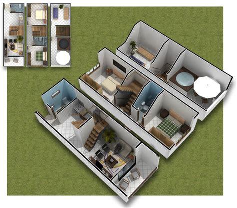3 Storey Commercial Building Floor Plan by Planos De Casa De 3 Pisos En 3d Casas Peque 209 As 35m2