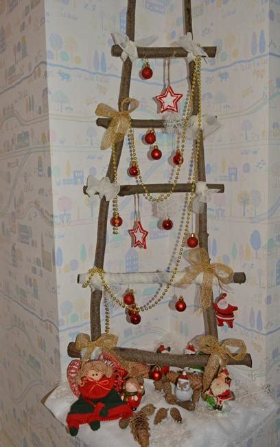 christmas decorating ideas   wooden ladders