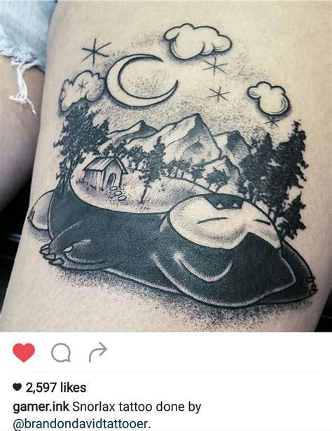 snorlax tattoo snorlax