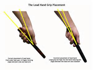 use of right hand in golf swing golf grip left hand